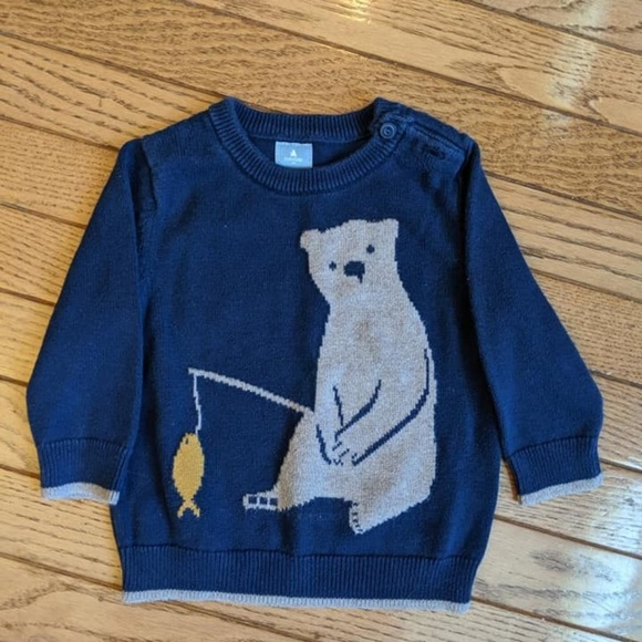 Gymboree Other - Baby Gap Bear Fishing Boy Sweater